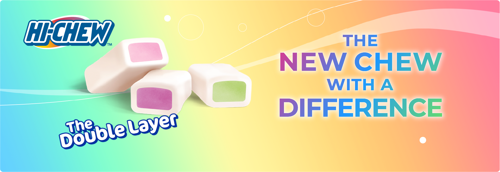 HI-CHEW product banner